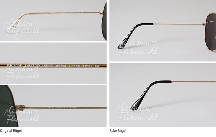 brillenbügel ray ban aviator